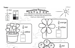 Free Fraction PDF Math Worksheets Worksheet #113