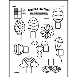 Free Fraction PDF Math Worksheets Worksheet #37