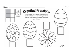 Free Third Grade Fractions PDF Worksheets Worksheet #49