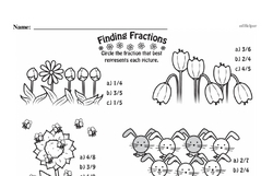 Free Third Grade Fractions PDF Worksheets Worksheet #40