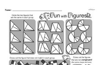 Geometry - 2D Shapes Workbook (all teacher worksheets - large PDF)