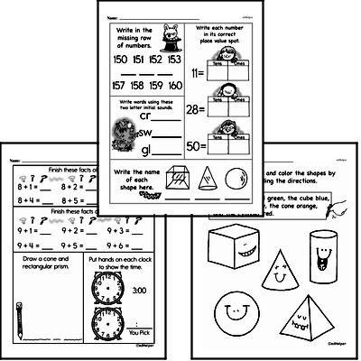 Geometry - 3D Shapes Workbook (all teacher worksheets - large PDF)