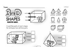 Third Grade Geometry Worksheets - 3D Shapes Worksheet #12