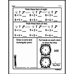 Third Grade Geometry Worksheets - 3D Shapes Worksheet #3