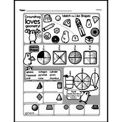 Third Grade Geometry Worksheets - 3D Shapes Worksheet #6