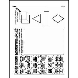 Third Grade Geometry Worksheets - 3D Shapes Worksheet #5