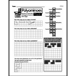 Geometry - Area Mixed Math PDF Workbook for Third Graders