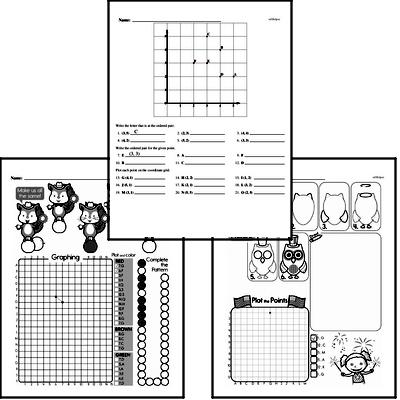 Geometry - Graphing Points on a Coordinate Plane Workbook (all teacher worksheets - large PDF)
