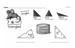 Third Grade Geometry Worksheets - Lines and Angles Worksheet #16