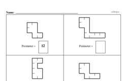 Third Grade Geometry Worksheets - Perimeter Worksheet #1