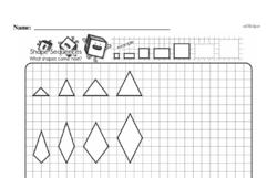 Free Third Grade Geometry PDF Worksheets Worksheet #44