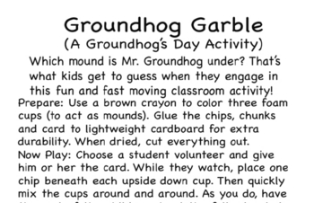 Classroom Activity Guide and Lesson Plan for Groundhog Day