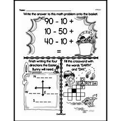 Free Third Grade Math Challenges PDF Worksheets Worksheet #109
