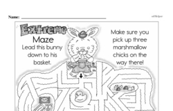 Free Third Grade Math Challenges PDF Worksheets Worksheet #162