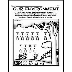 Free Third Grade Math Challenges PDF Worksheets Worksheet #67