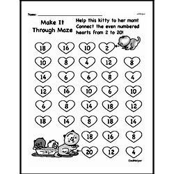 Free Third Grade Math Challenges PDF Worksheets Worksheet #43