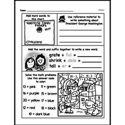 Free Third Grade Math Challenges PDF Worksheets Worksheet #41