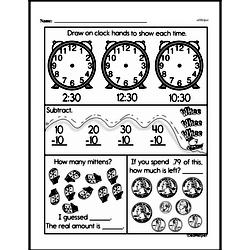 Free Third Grade Math Challenges PDF Worksheets Worksheet #16