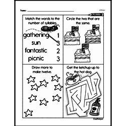 Free Third Grade Math Challenges PDF Worksheets Worksheet #180