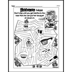 Third Grade Math Challenges Worksheets - Puzzles and Brain Teasers Worksheet #188