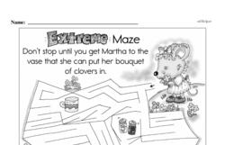 Free Third Grade Math Challenges PDF Worksheets Worksheet #188