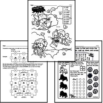 Math Challenges - Puzzles and Brain Teasers Mixed Math PDF Workbook for Third Graders