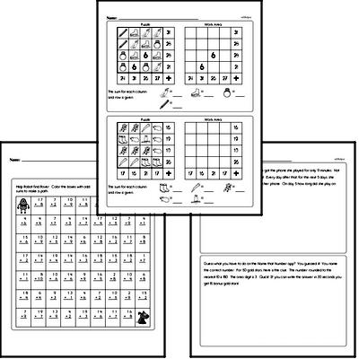 Math Challenges - Puzzles and Brain Teasers Workbook (all teacher worksheets - large PDF)