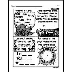 Free Third Grade Math Challenges PDF Worksheets Worksheet #125