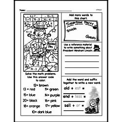 Free Third Grade Math Challenges PDF Worksheets Worksheet #21
