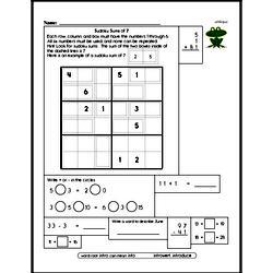 Sum Practice with Sudoku Logic Puzzle Book