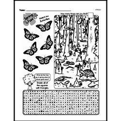 Free Third Grade Math Challenges PDF Worksheets Worksheet #107