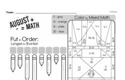 Free Third Grade Math Challenges PDF Worksheets Worksheet #49