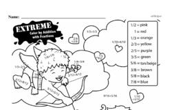 Free Third Grade Math Challenges PDF Worksheets Worksheet #28