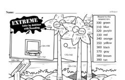 Free Third Grade Math Challenges PDF Worksheets Worksheet #24