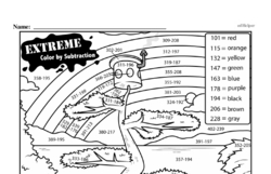 Free Third Grade Math Challenges PDF Worksheets Worksheet #19