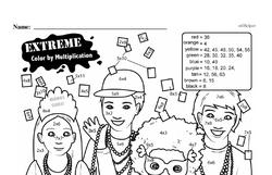 Free Third Grade Math Challenges PDF Worksheets Worksheet #50