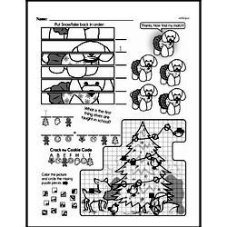 Free Third Grade Math Challenges PDF Worksheets Worksheet #159