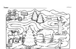 Free Third Grade Math Challenges PDF Worksheets Worksheet #120