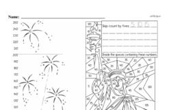 Free Third Grade Math Challenges PDF Worksheets Worksheet #128