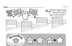 Free Third Grade Math Challenges PDF Worksheets Worksheet #18