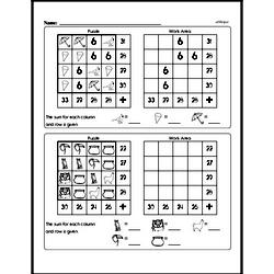 Free Third Grade Math Challenges PDF Worksheets Worksheet #2