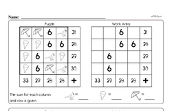 Third Grade Math Challenges Worksheets - Puzzles and Brain Teasers Worksheet #2
