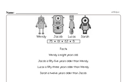 Third Grade Math Challenges Worksheets - Puzzles and Brain Teasers Worksheet #3
