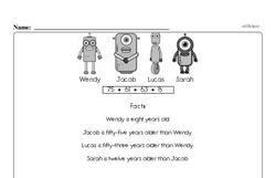 Free Third Grade Math Challenges PDF Worksheets Worksheet #3