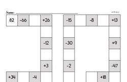 Free Third Grade Math Challenges PDF Worksheets Worksheet #5