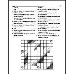 Third Grade Math Challenges Worksheets - Puzzles and Brain Teasers Worksheet #10