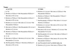 Free Third Grade Math Challenges PDF Worksheets Worksheet #10