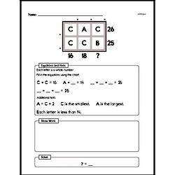 Third Grade Math Challenges Worksheets - Puzzles and Brain Teasers Worksheet #12