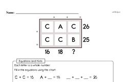 Free Third Grade Math Challenges PDF Worksheets Worksheet #12