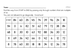 Free Third Grade Math Challenges PDF Worksheets Worksheet #13